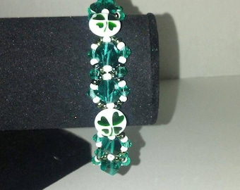 Luck of the irish sead bead bracelet