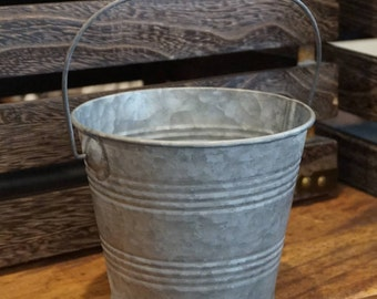 Metal Pail with Handle 4.5 inches