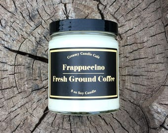 Frappuccino, Fresh Ground Coffee, Soy Candle, Coffee Candle, Candles Handmade, Coffee Lovers Gift, Gift Hostess, Housewarming Gift, Soy Wax
