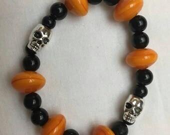 Halloween Skull Bracelet (#113)