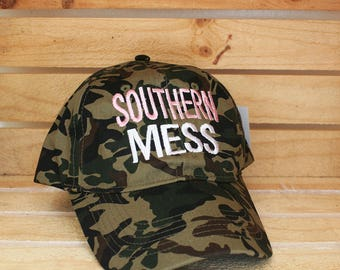 Southern Mess Embroidered Trucker Hat