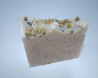 CHAMOMILE Soap for Sensitive Skin. Enriched w/ Shea Butter and Pure Essential Oils