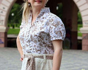 Cotton blouse Cream ice