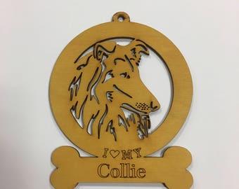 Collie Dog Ornament