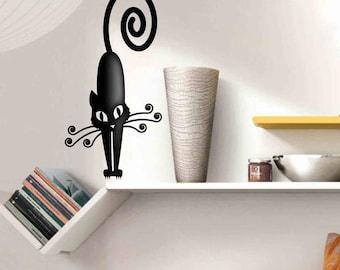 Cat - Wall stickers, wall decor, wall cat decor, cat decals, wall decals, cat wall stickers, cat wall decor, cat wall decals, living decor