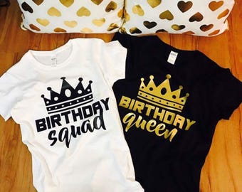 Birthday shirts for women, 30th birthday for her, birthday squad shirts, birthday shirt women, adult birthday shirt, squad goals