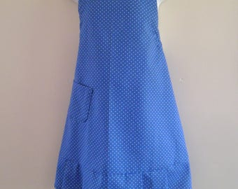 Girls Blue polka dot Apron