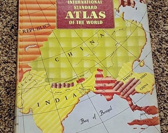 "Vintage Collector's Atlas ""International Standard World Atlas"" 1949"