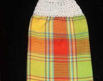crochet top dish towel