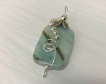 Rectangle Amazonite Pendant