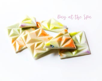 Day at the Spa Wax Melts (5.9 Oz.) - Fresh Wax Melts - Wax Melt Brittle - Wax Melt Snap Bars - Wax Brittle - Lemon Scented - Fresh Scents