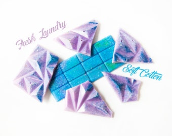 Soft Cotton | Fresh Laundry | Wax Melts (4.4 Oz.) - Fresh Wax Melts - Wax Brittle - Fresh Scents - Hand Poured Wax - Handmade Wax Melts