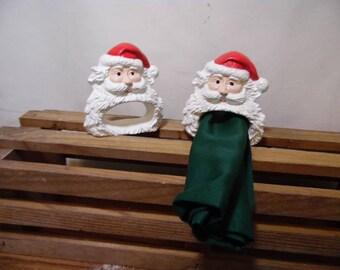 Santa Napkin Ring set of 2