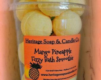 Mango Pineapple Fizzy Bath Bombs