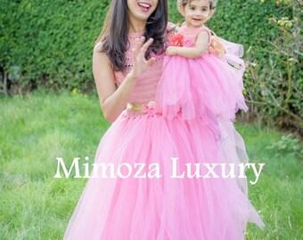Mother Daughter Matching Dresses Adult tutu dress, mom and me dress, Women tutu dress, Wedding dress, Hen party dress, Adult Princess dress