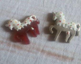 set unicorns resin candy
