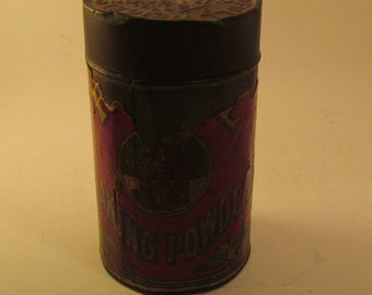 OLD 1/2 Pound Baking Powder Cannister