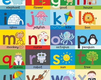Alphabet Children learning poster