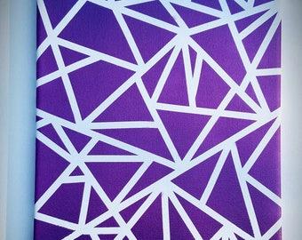 Purple Abstract Canvas (Customizable)