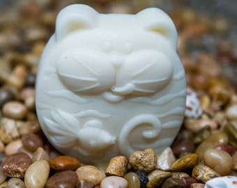 Goats Milk Cat with Goldfish Body Soap. Handmade with all natural ingredients including, Jasmine, Sandalwood, and Vanilla oils