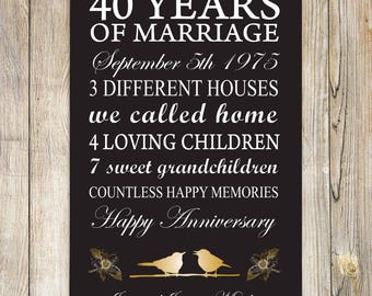 Wedding Anniversary Poster