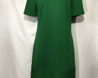 60's Ladies' 6 Green Mod J. Harlan Originals Short-Sleeved Dress