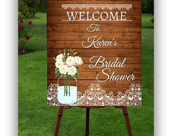 Bridal Shower Welcome Sign Printable, Wedding Welcome Sign Wood, Rustic Wedding Welcome Sign, Welcome Sign Printable, Bridal Shower Sign