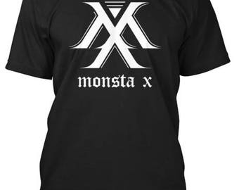 MONSTA X Simple Logo Shirts - ten colors available