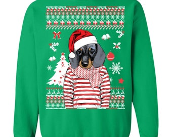 Dachshund Christmas - Sweatshirt (cannot guarantee to be deliver by Christmas)