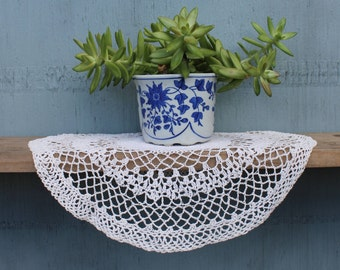 Vintage Crocheted Doily 13""