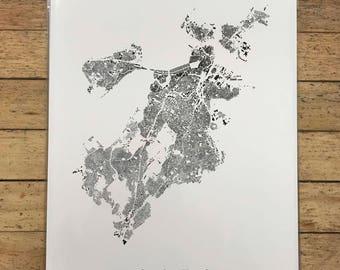 Boston GIS Map Print
