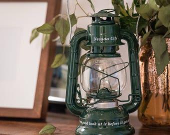 Wedding centerpiece oil lanterns
