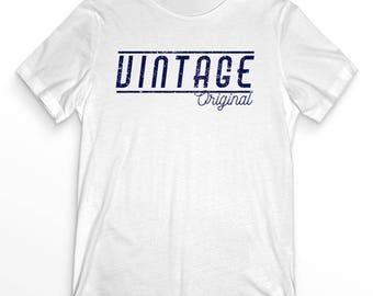Vintage original slogan / slogan T-shirt / white mens T-shirt / vintage clothing / mens logo clothing