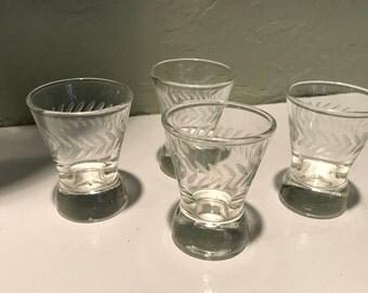 Candlewick shot glasses