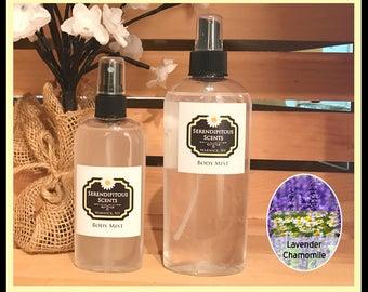 Lavender Chamomile Body Mist, Lavender Chamomile All Natural Body Mist, Lavender Chamomile Body Spray, Lavender Chamomile Room Spray