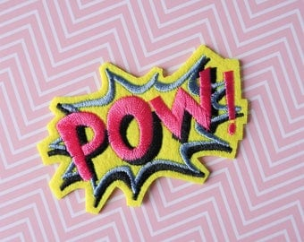Patch Pow - Patch word Pow - Patch onomatopoeia Batman - Patch cartoon words - Applique DC Comics