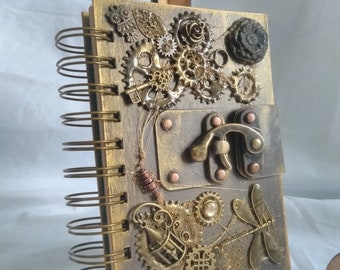 Small Mixed Media Steampunk Book / Journal / Notebook