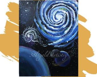 Space Jam  (Milky Way Galaxy Universe Art)