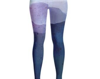 Blue Mountain with Tie Dye Yoga Leggings