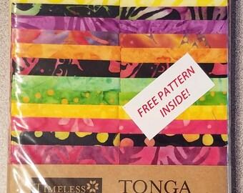 "Timeless Treasures - Tonga Treats - Treat Strip ""Neon"" FREE SHIPPING"