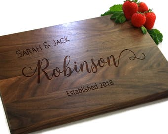 Personalized Cutting Board, Custom Cutting Board, Wedding Gift, Cutting Board, Engraved Cutting Board, Engraved Gifts, PTCB007