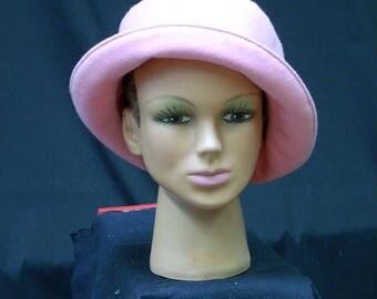 Hat creation felt pink Gr. 55/56 unique