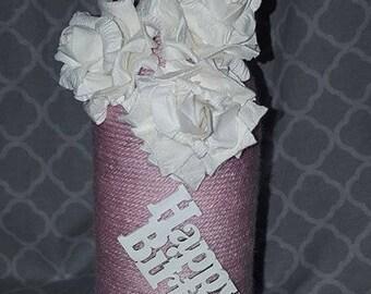 House warming gift, wedding gift, home decor, upcycled wine bottle
