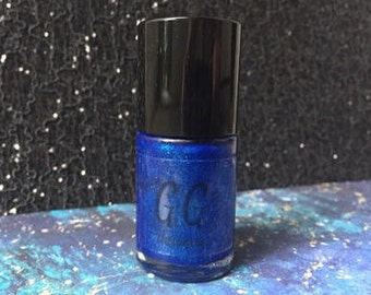 All Of Time and Space - Bright Blue Nail Polish with Teal Sparks