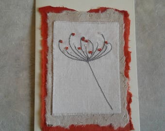 Hand Made Art Textile Greetings Card
