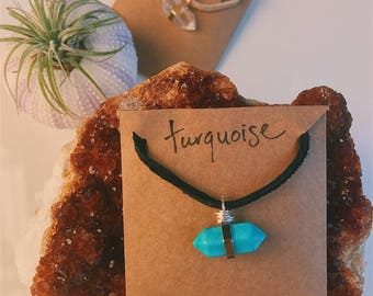 Turquoise Quartz Necklace