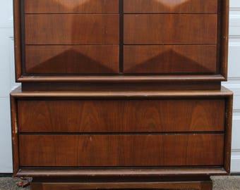 united furniture diamond front mid century modern dresser mid century modern dresser mcm highboy
