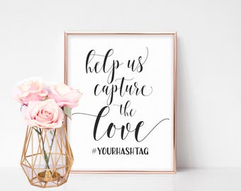Wedding Hashtag Sign Printable, Hashtag Wedding Sign, Printable Hashtag Sign, Wedding Hashtag Printable, Instagram Wedding Sign, Custom