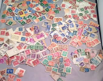 Hundreds of Vintage and Antique Foreign and Domestic Used Postage Stamps