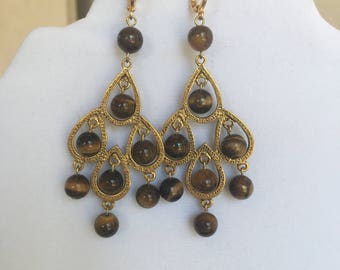Tiger Eye Earrings by Dobka